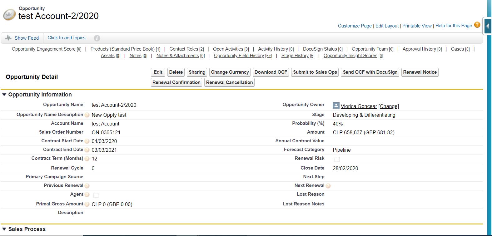 Salesforce Classic Screen